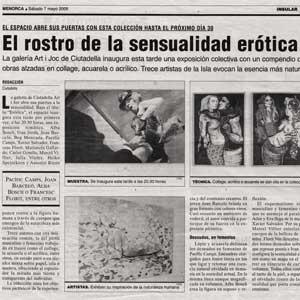 «El rostro de la sensualidad erótica»