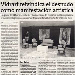 «Vidrart reivindica el desnudo como manifestación artística»