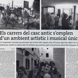 «Els carrers del casc antic s'omplen d'un ambient artístic i musical únic»
