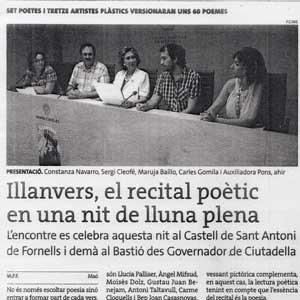 «Illanvers, el recital poètic en una nit de lluna plena»
