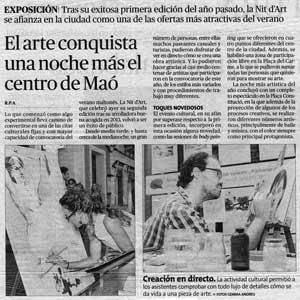 «El arte conquista una noche más el centro de Maó»