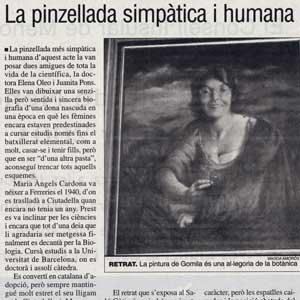«Ciutadella distingeix la botànica Maria Àngels Cardona com a Filla Il·lustre»