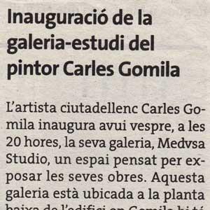«Inauguració de la galeria-estudi del pintor Carles Gomila»