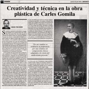 «Creatividad y técnica en la obra plástica de Carles Gomila»