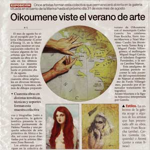 «Oikoumene viste el verano de arte»