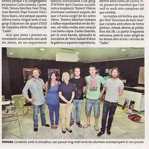 «Els alumnes de 'Calós' experimenten amb els originals de Vidrart»