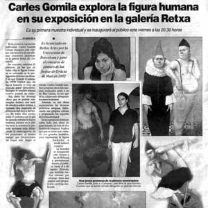 «Carles Gomila explora la figura humana en su exposición en la galería Retxa»