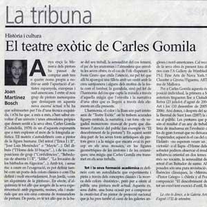 «El teatre exòtic de Carles Gomila»