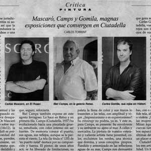 «Magnas exposiciones que convergen en Ciutadella»