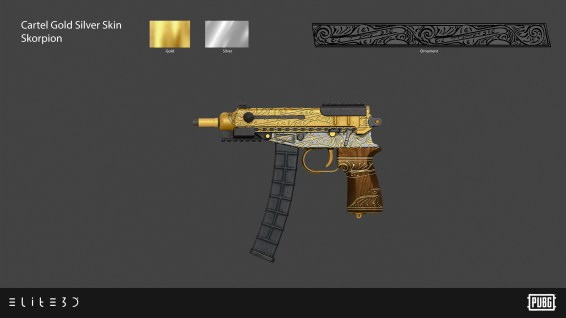 PUBG_Weapon-Skins-Cartel-Gold-Silver_Skorpion_Final