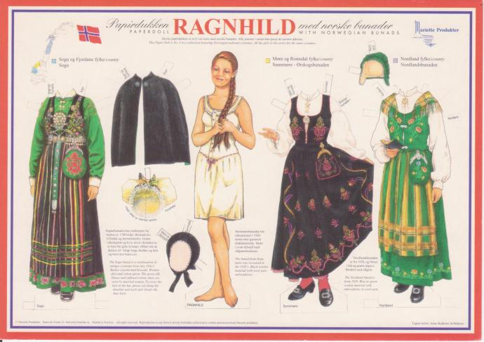 paper doll from Norway