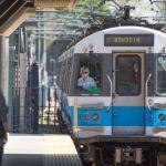For the Blue Line's Helen Antenucci, every morning is a good morning. Derek Kouyoumjian/MetroPhoto