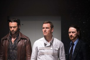Wolverine, Magneto, and Charles Xavier played by Hugh Jackman, Michael Fassbender and James McAvoy respectively