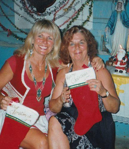 Carole and Micki (Mom). Feliz Navidad!