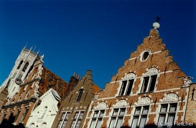 Bruges, Belgium roof line