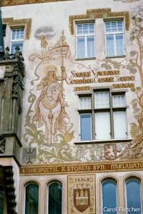 Building mural in Prague