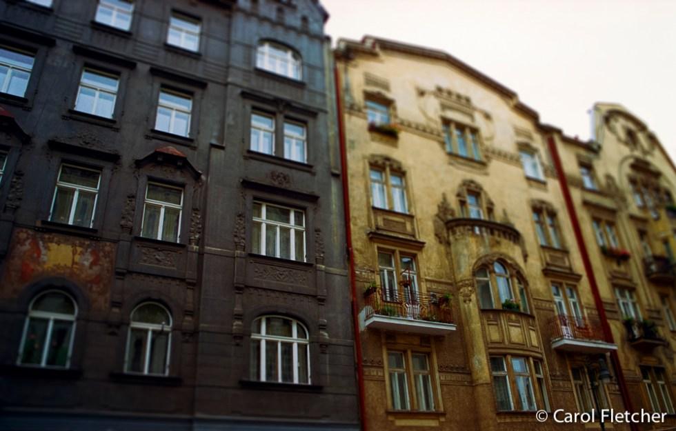 Black and Yellow Buildings - Prague