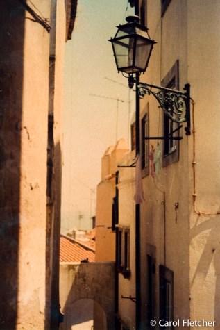 Faded film Lisbon to the sea