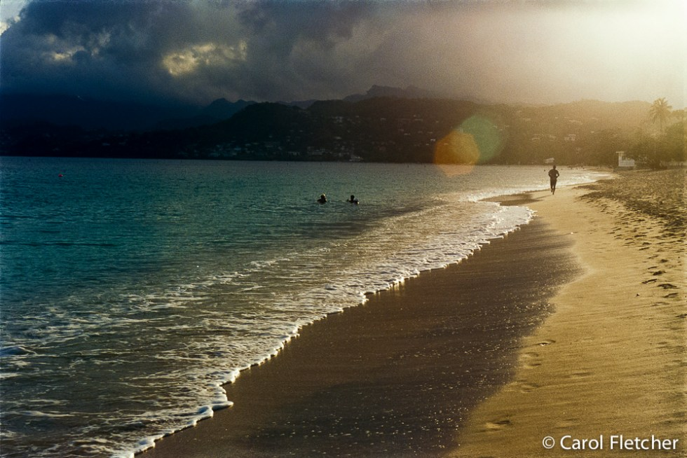 Sunrise at Grand Anse Beach