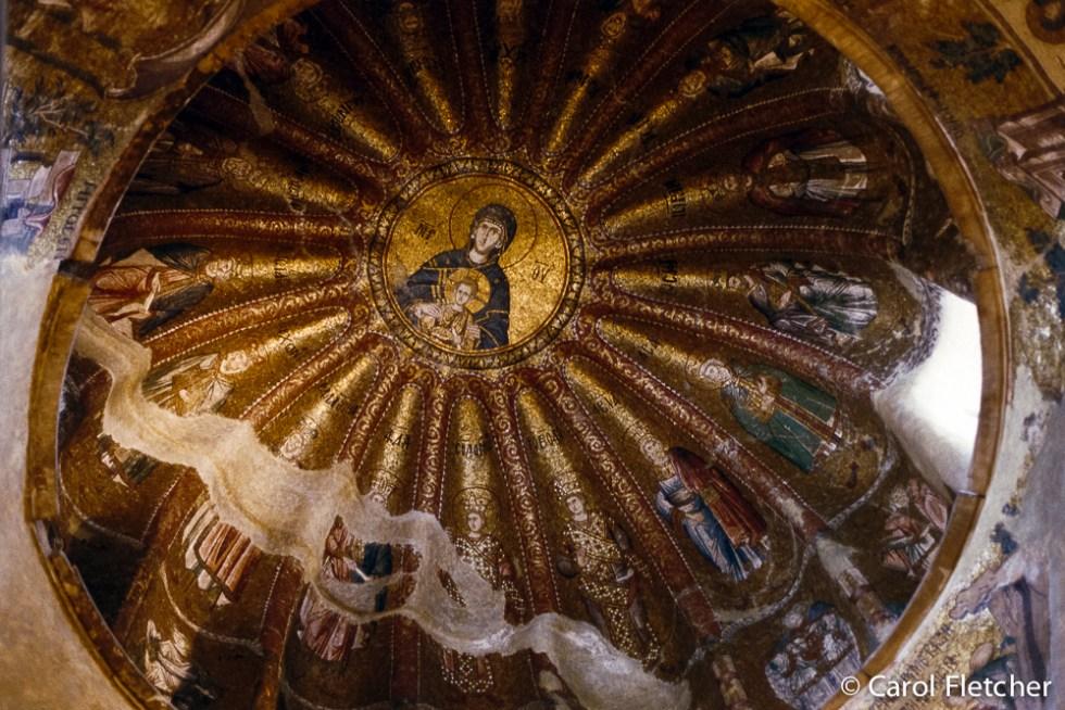 The staring Jesus at Chora