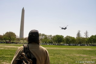 Bryan watches helicopters in DC