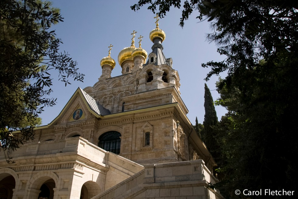 The Russian Church on Mt of Olives