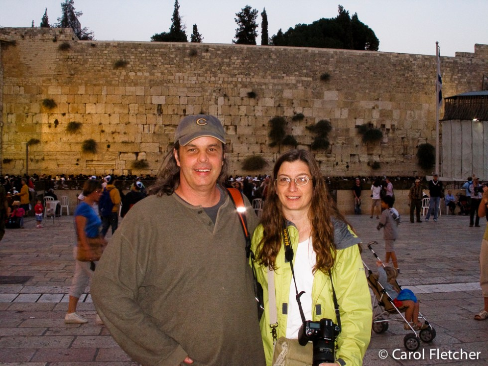 Bryan and Carol at the Western Wall