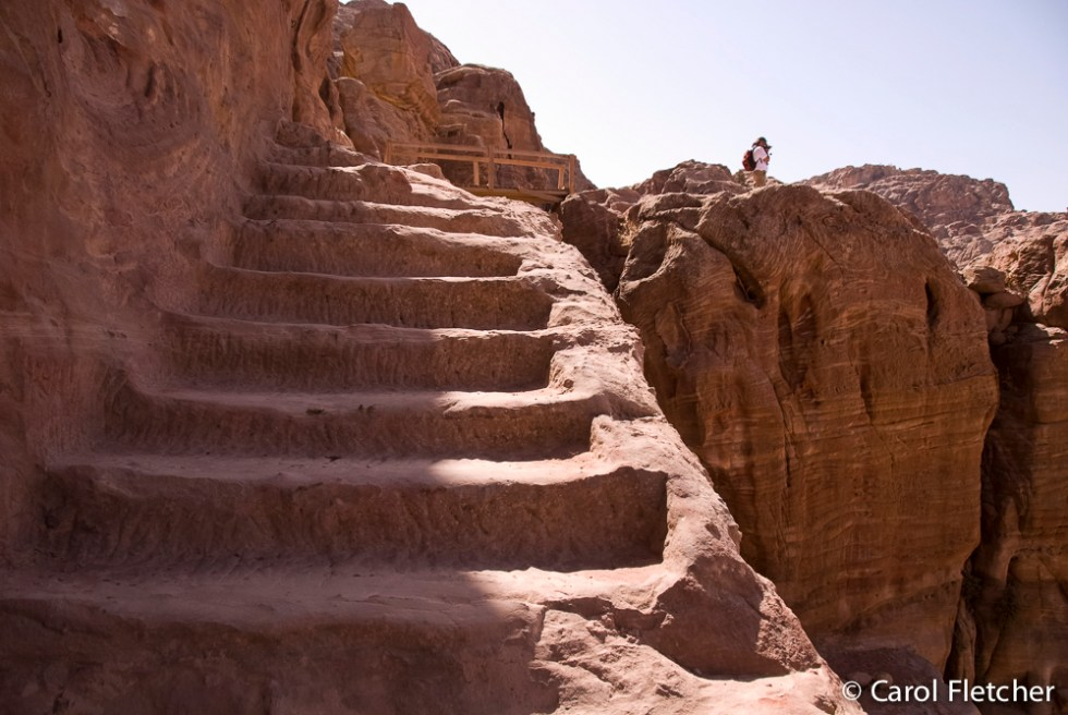 Bryan up the stairs at Petra