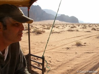 Leaving Wadi Rum in the morning