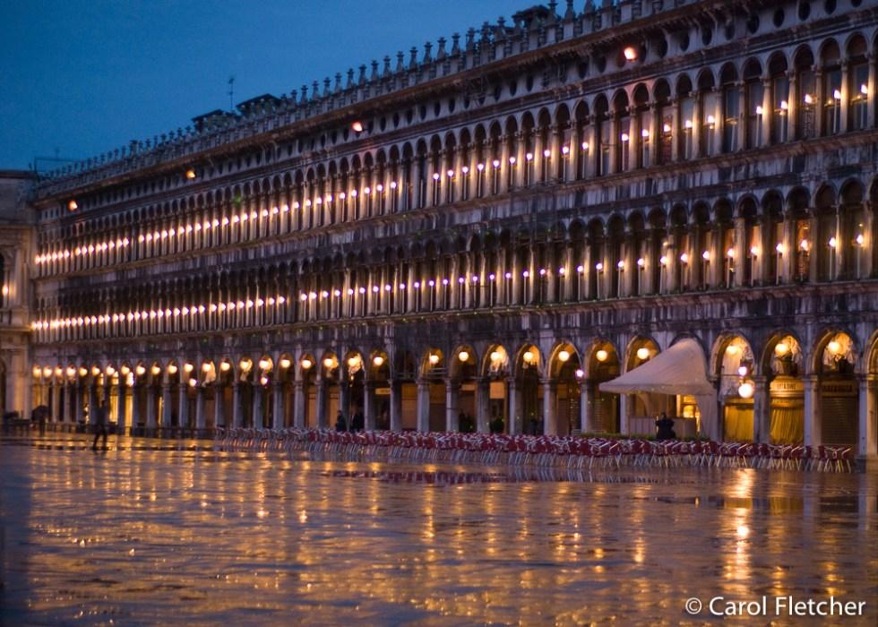 Twilight and rain in San Marco's