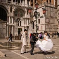 Bride in San Marco piazza