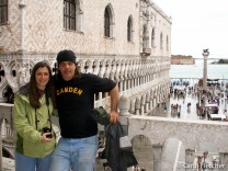 Carol and Bryan overlooking the Piazza