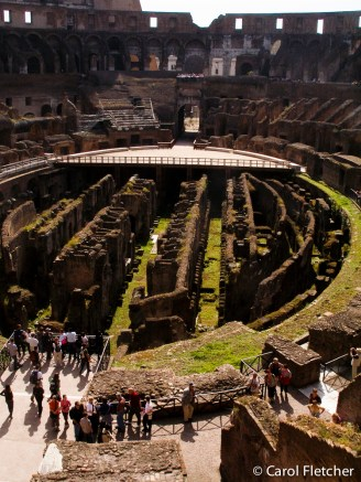 The Colosseum floor