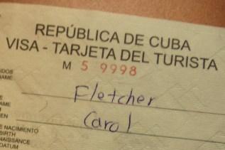 Turista Visa para Republica de Cuba