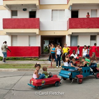 carnival ride baracoa cuba children electric cord