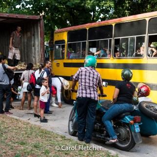 produce truck bus motorcycle blackmarket cuba havana