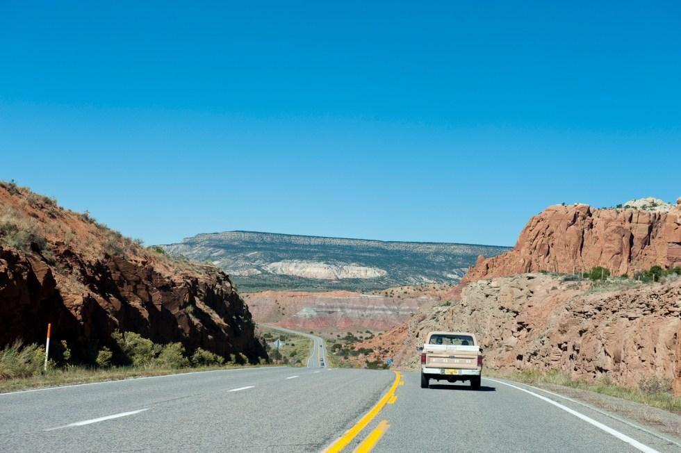 Driving north from Santa Fe