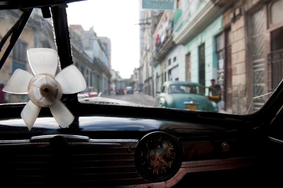Time...in a peso taxi, Havana, Cuba