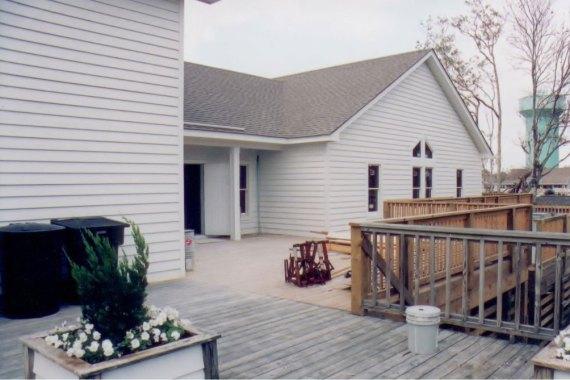 Duck United Methodist Church deck construction