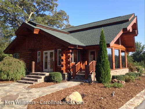 Custom Log Home or Office At Lake Lure NC - 7214 N Hwy 9 Mill Spring $250,000