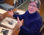 Librarian Zoe Rhine says the album is a goldmine of local history. Jon Elliston/CPP