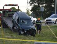 One person was killed in a single-vehicle crash near uptown Charlotte in the early morning June 22. The accident happened just after 4 a.m. on the Interstate 77 ramp to Morehead Street. Davie Hinshaw/Charlotte Observer