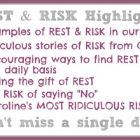 31 Days of Rest & Risk :: Day 1 ~ Introduction