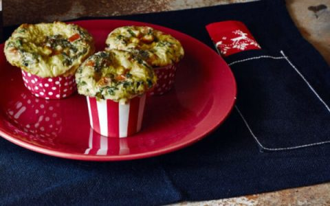 Muffin salgado de tapioca com legumes