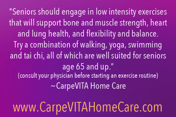 Low Intesity Exercises for Seniors Quote Image
