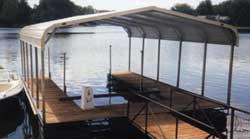 Steel buildings Boat Port Mounted on a Deck on a Lake Standard Style steel buildings