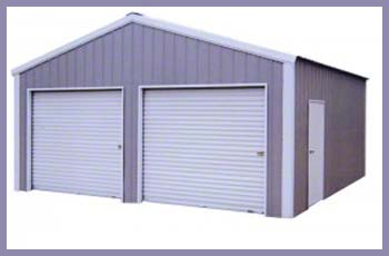 Steel Buildings A-Frame Vertical Garage