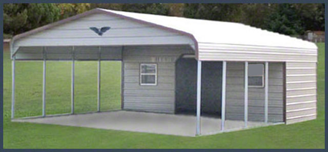 Steel buildings combo photos and for Carport shed combo