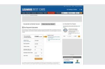 Chase Car Loans Calculator