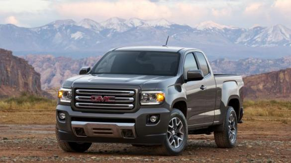GMC   Latest Cars Models Reviews 2015 gmc canyon at slt front three quarter